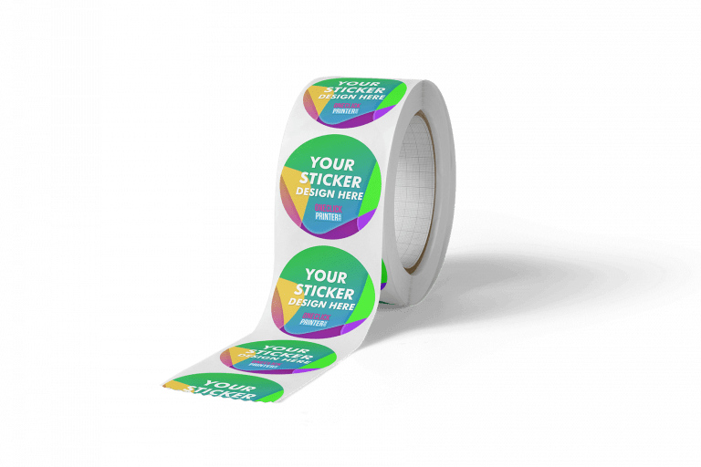 Circle Round Sticker Printing on Roll